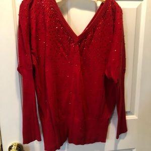 Beautiful red sweater from Boston Proper